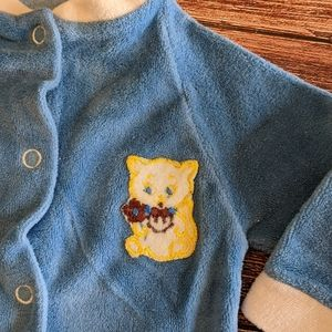 Vintage Baby Sleeper Kitty Cat Patch Applique